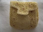 1920's - 1930's  Cream Sash Purse (sold)